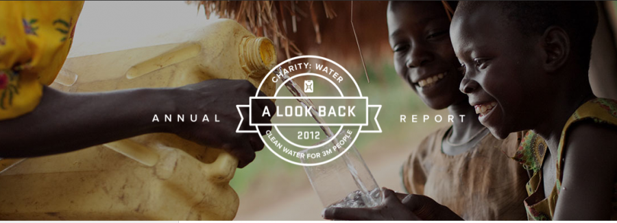 Charity Water digital annual report