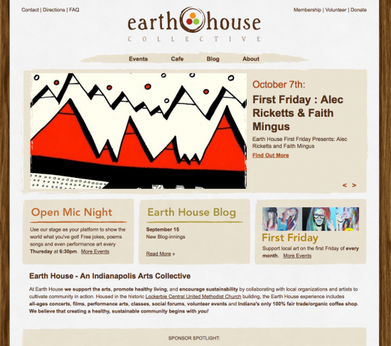Earth House New Website!